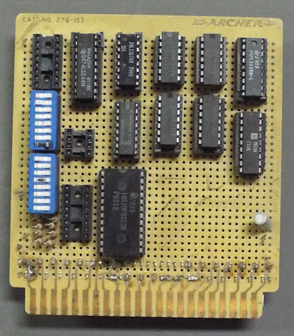 Memory card for a microcomputer I built.