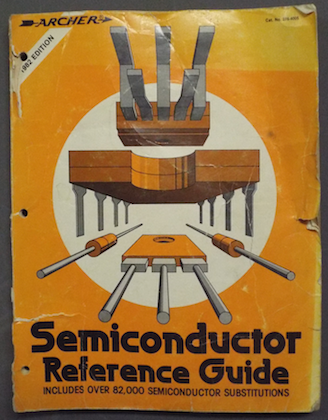1981 Radio Shack Semiconductor Reference Guide. I wore these things to tatters.